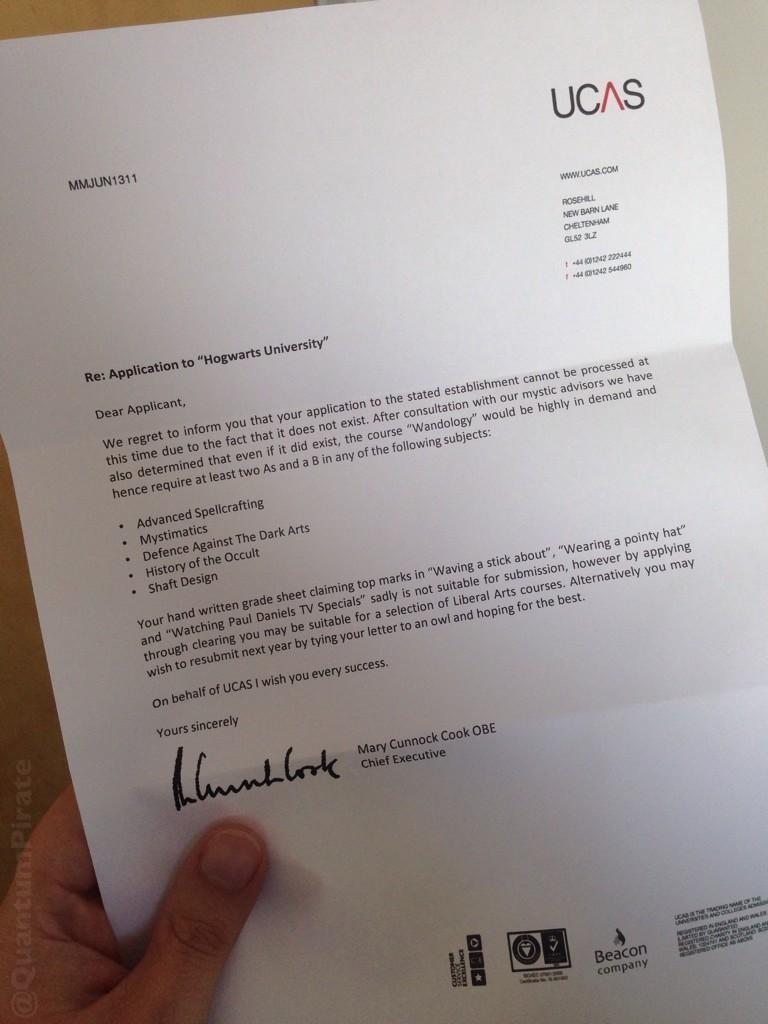 ucas letter