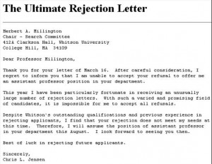 job rejection letter funniest rejection letters theemployable 11451 | rejectionletter2223 300x232